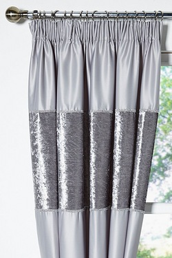Crushed Velvet Lined Curtains