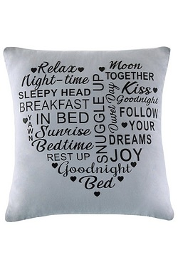 Heart Full Of Words Cushion Cover