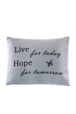Live Hope Smile Cushion Cover