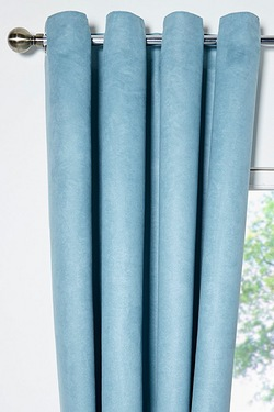 Faux Suede Eyelet Curtains