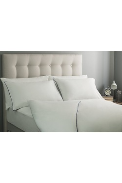 Silentnight Piped Percale Duvet Set