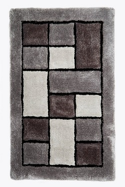 3D Blocks Shaggy Rug