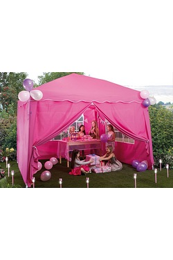 Pink Pop-Up Gazebo With Side Panels