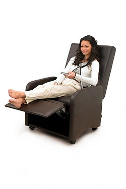 Faux Leather Folding Recliner Chair