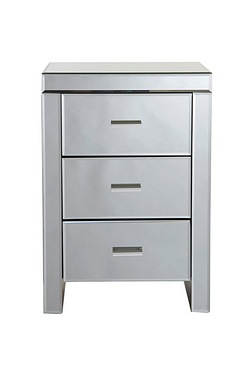 Mirrored Glass 3 Drawer Unit