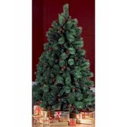 Deluxe Unlit Pine Tree With Silver ...
