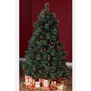 Deluxe Pre-Lit Pine Tree With Silve...
