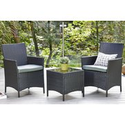 3-Piece Rattan-Effect Bistro Set