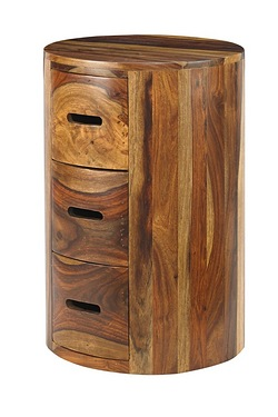 Goa 3 Drawer Pillar Chest