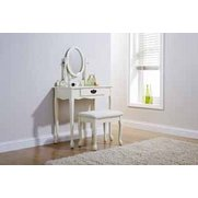 Queen Anne Dressing Table & Stool Set