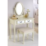Mirrored Dressing Table & Stool Set