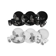 16+16 Piece FREE Black & White Embo...