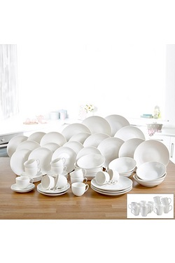 72 Piece New Bone China White Dinne...