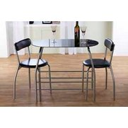 Compact Glass Dining Set
