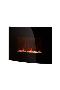 Warmlite Black Curved Glass Wall Fi...