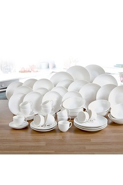72-Piece New Bone China White Dinne...