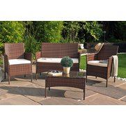 Venice 4-Piece Rattan-Effect Set