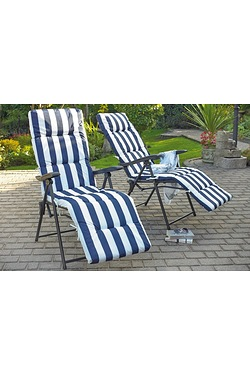 Set Of 2 Cushioned Reclining Relaxers