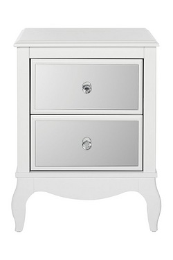 Amelie Mirrored 2 Drawer Bedside Table