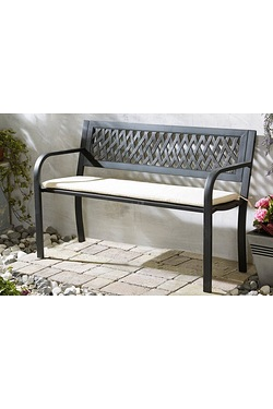 Logan Steel Bench With Cushions