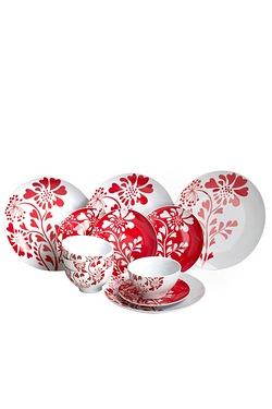 12 + 12 Piece FREE Flower Dinner Set