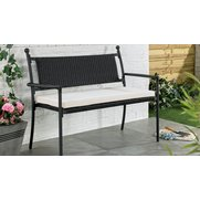 Buxton Rattan Bench With Cushion