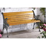 Hartford Wooden Bench With Metal Sides