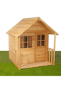 Wooden Play House With Patio