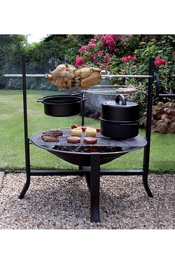 All-In-One Camping Grill And Rotiss...
