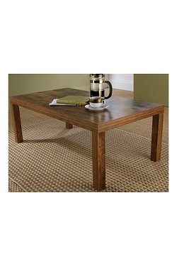 Mango Wood-Effect Coffee Table