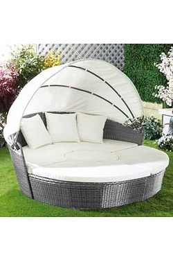 Modular Rattan-Effect Day Bed With ...