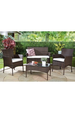 Lisbon 4-Piece Rattan-Effect Set