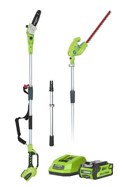 Greenworks G40PSHK2 Cordless Long R...