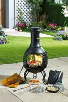 Compare retail prices of 10-Piece Steel Pot Belly Chiminea Set to get the best deal online