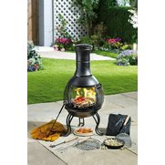 10-Piece Steel Pot Belly Chiminea