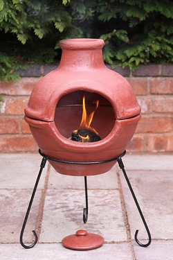 Gardeco Cozumel Two Part Red Clay Chimenea