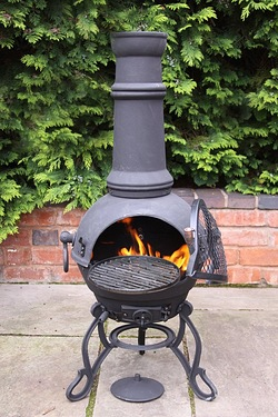 Gardeco Toledo Black Cast Iron Chim...