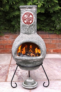 Gardeco Mexican Chimenea Cruz Green