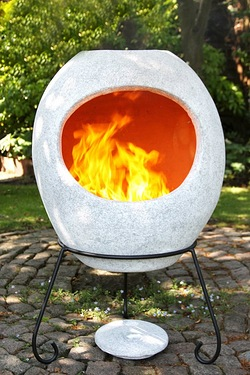 Gardeco Ellipse Mexican Chimenea Grey