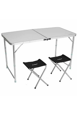 Summit 120 x 60cm Folding Table with 4 Stools