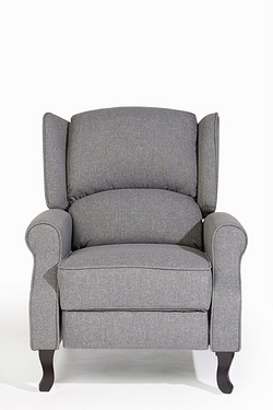 Classic Style Recliner Chair - Grey Fabric