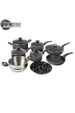 Tower 9 Piece Stone Coated Pan Set ...