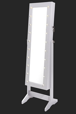 Jewellery Cabinet with LED Lights and Lockable Door
