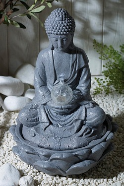Solar Buddha Water Fountain
