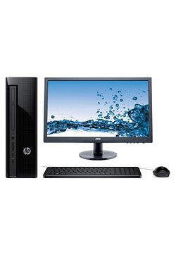 HP Slimline 411 Desktop PC + Monitor