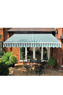Patio Awning - Green/White
