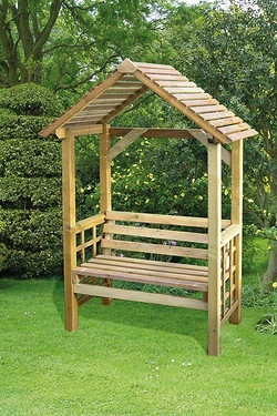Athena Wooden Bench With Arbour