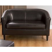 Faux Leather Tub Sofa