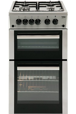 Beko 50cm Twin Cavity Gas Cooker