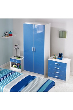 Carleton 3-Piece High Gloss Bedroom...